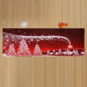 Christmas Snow Night Tree Antislip Bath Mat -