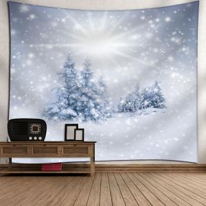 Wall Hanging Christmas Snow Tree Tapestry -