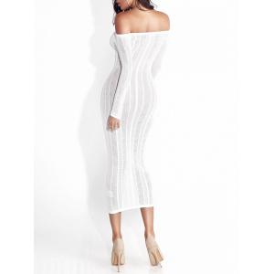 Off The Shoulder Bodycon Long Dress - WHITE XL