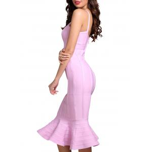 Bodycon Mermaid V-neck Slap Bandage Dress - Papaye S
