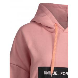 Pocket Plus Size Unique for Retro Hoodie - ROSE PÂLE 3XL