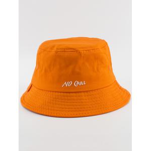 NO CAILL Embroidery Embellished Bucket Hat - Orange