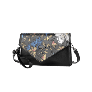 Faux Leather Embossing Crossbody Bag - Multicolore