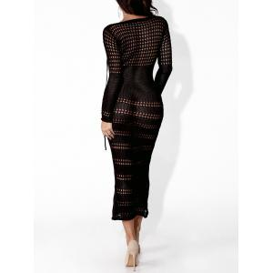 Voir à travers Sheer Bodycon Club Dress - Noir XL