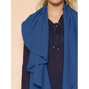High Low Draped Vest - BLUE L