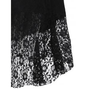 Brocade Lace Sweetheart Neck Dress - BLACK S