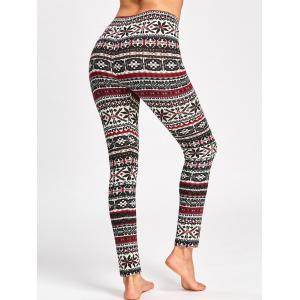 Christmas Graphic Fitted Pants -
