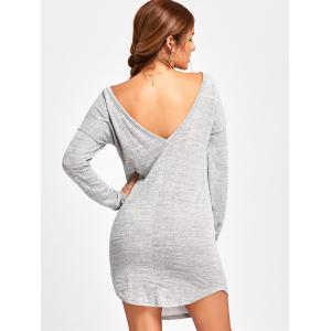Mini Long Sleeve Back V Dress -