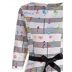 Vintage Music Note A Line Dress -