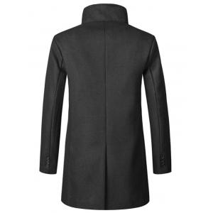 Обложка Placket Longline Woolen Coat -