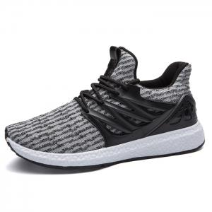 Breathable Striped Lace Up Casual Shoes -