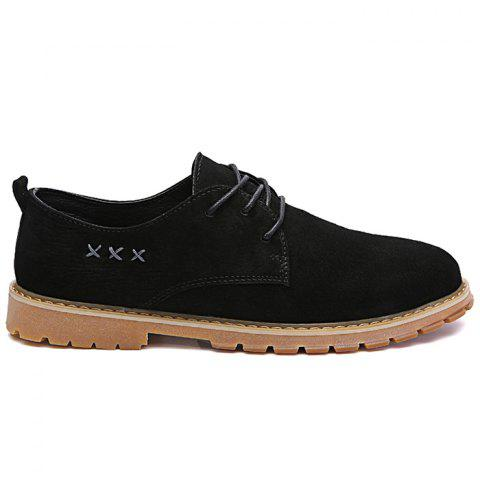 Discount Lace Up Criss Cross Casual Shoes - 43 BLACK Mobile
