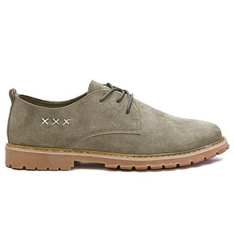Shops Lace Up Criss Cross Casual Shoes - 40 OLIVE GREEN Mobile