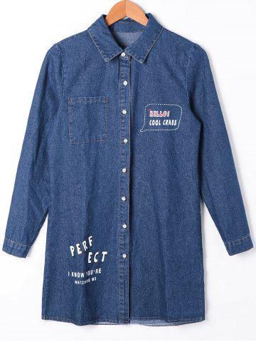 Outfits Patch Pocket Button Up Jean Shirt Coat