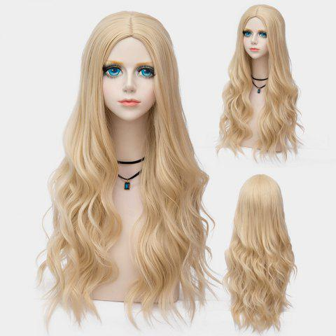 Shops Long Layered Center Parting Wavy Synthetic Party Wig
