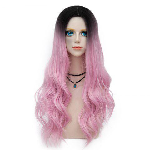 Store Long Layered Center Parting Wavy Synthetic Party Wig