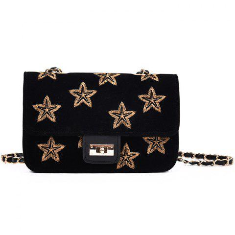 Outfits Star Embroidery Chain Crossbody Bag