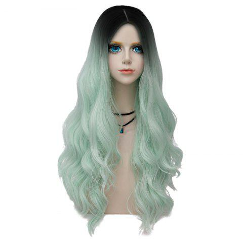 Chic Long Layered Center Parting Wavy Synthetic Party Wig