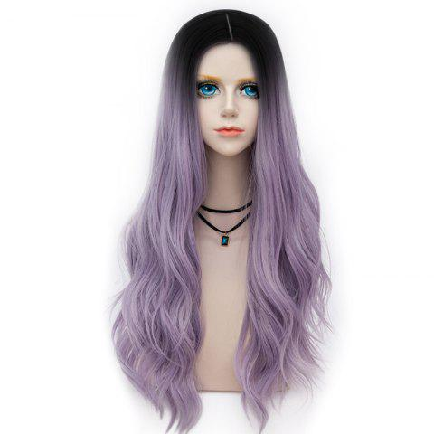 Best Long Layered Center Parting Wavy Synthetic Party Wig