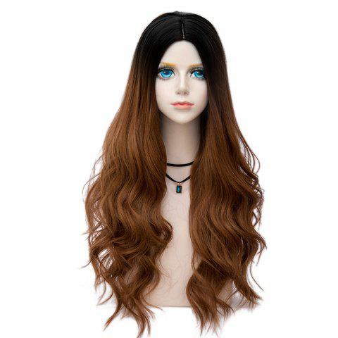 Sale Long Layered Center Parting Wavy Synthetic Party Wig