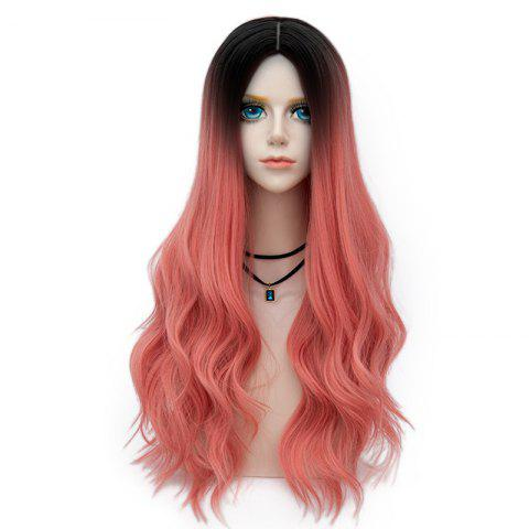 Discount Long Layered Center Parting Wavy Synthetic Party Wig