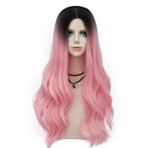 Fashion Long Layered Center Parting Wavy Synthetic Party Wig