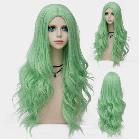 Trendy Long Layered Center Parting Wavy Synthetic Party Wig