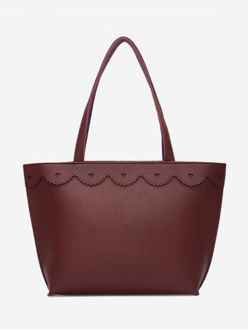Outfit Heart Pattern PU Leather Shoulder Bag