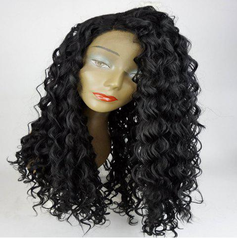Fancy Long Side Part Shaggy Big Curly Lace Front Synthetic Wig