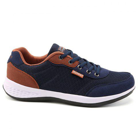 Affordable Color Block Breathable Mesh Sneakers - 39 BLUE Mobile