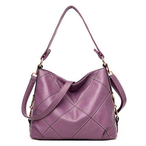Outfits Stitching Quilt Cross Shoulder Bag PURPLE