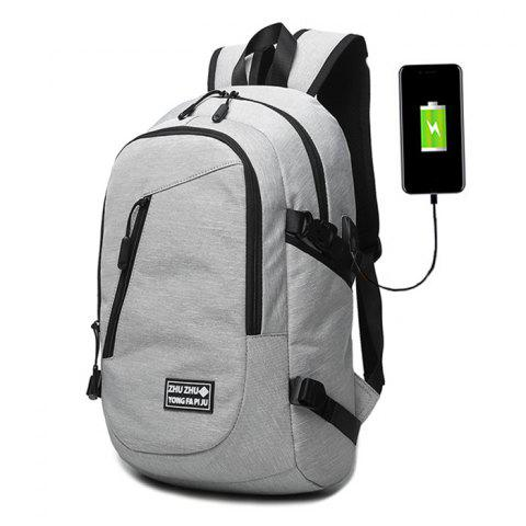Discount Buckle Strap USB Charging Port Zips Backpack