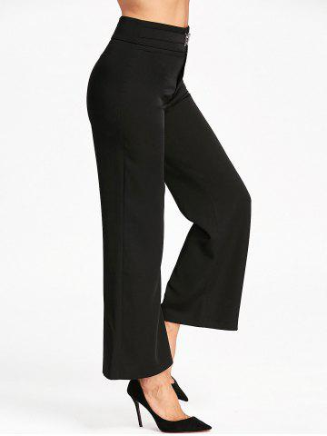Cheap High Waisted Wide Leg Suit Pants - S BLACK Mobile