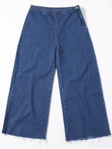 Outfits Wide Leg Frayed Hem Jeans BLUE JEANS M