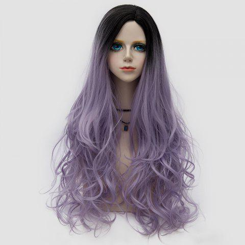Side Parting Layered Shaggy longue perruque ondulée Colormix Synthetic Party