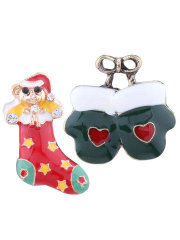 Shop Christmas Heart Bows Gloves Stocking Brooches - COLORMIX  Mobile