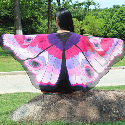 Shops Colorful Butterfly Wings Scarf PINK