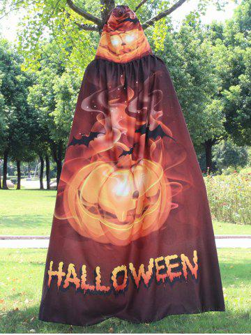 Trendy Magic Cloak with Halloween Printed - GOLDEN  Mobile