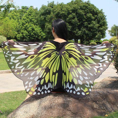 Fancy Colorful Butterfly Wings Scarf YELLOW