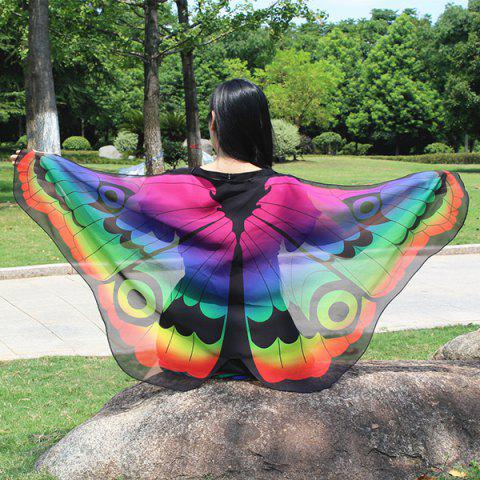 Fashion Colorful Butterfly Wings Scarf - GRADUAL PURPLE  Mobile