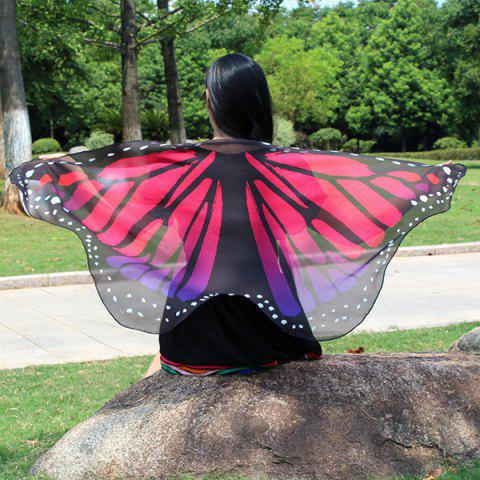 New Colorful Butterfly Wings Scarf - TUTTI FRUTTI  Mobile