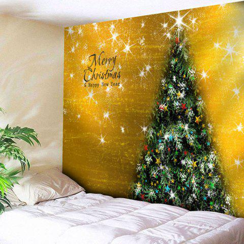 Outfit Merry Christmas Tree Printed Wall Tapestry GOLDEN W59 INCH * L51 INCH