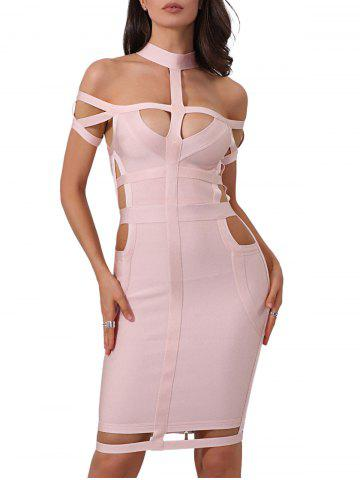 Fashion Cut Out Cage Bodycon Bandage Dress