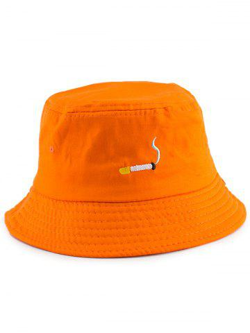 NO CAILL Embroidery Embellished Bucket Hat Orange