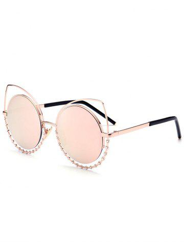 Outfits Metal Rhinestone Cat Eye Sunglasses