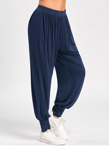 Shops High Waisted Harem Pants DEEP BLUE M