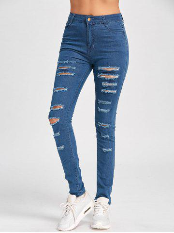 Best Ladder Distressed Skinny Jeans