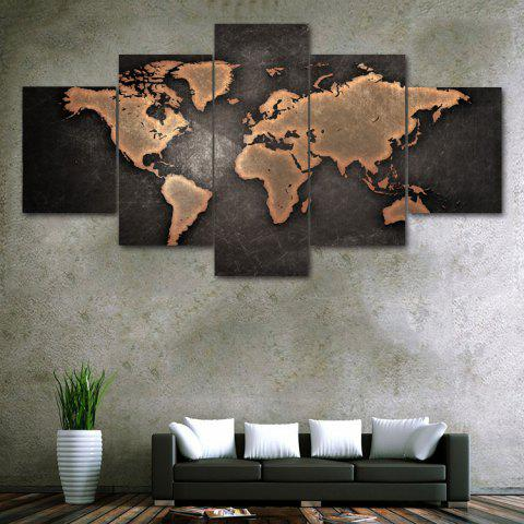 Vintage World Map Print Unframed Split Canvas Paintings