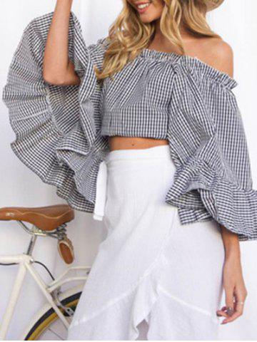 Store Flare Sleeve Off The Shoulder Crop Top