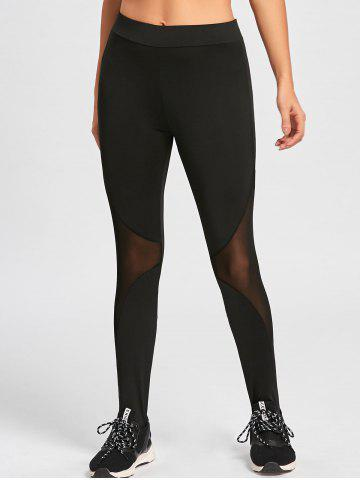 Sale Mesh Trim Stirrup Leggings